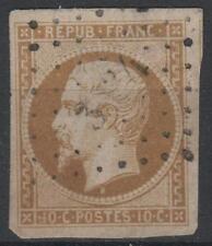 """FRANCE STAMP TIMBRE N° 9 """" NAPOLEON 10c BISTRE JAUNE """" OBLITERE TB SIGNE  K571"""