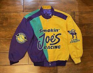 Jimmy Spencer #23 Smokin Joes Racing Race Jacket Mens Size Small NASCAR JH