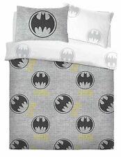 Official Batman 'Grey' Double Duvet Quilt Cover Bedding Set