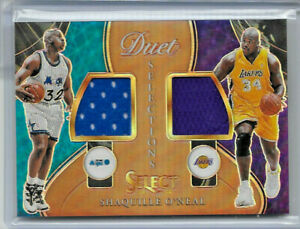 2020-21 PANINI SELECT SHAQUILLE O'NEAL DUET SELECTIONS DUAL JERSEY REFRACTOR /49