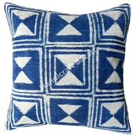 "18x18"" Handmade Outdoor Decorative Hand block Print Pillows Cotton Cushion cover"