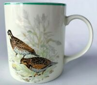 Vintage Quail Ceramic Stoneware Coffee Mug Quail Pair Bird man cave Woodland