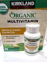 Kirkland Signature USDA Organic Multivitamin 80 Coated Tablets