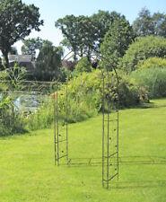 Rosenbogen Metall Garten Rankhilfe Edel Rost Antik Gitter Kletterpflanzen Rost