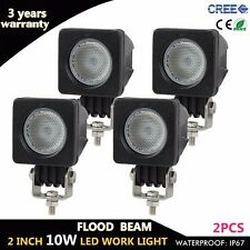 4X 10W Cree Led Work Light Bar Flood Beam Driving Offroad Truck Boat 4WD Square