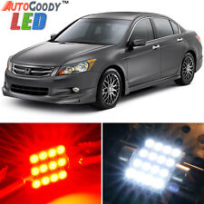 14 x Premium Red LED Lights Interior Package Kit for Honda Accord 2003-2012