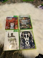LOT OF 4 XBOX 360 GAMES GRAND THEFT AUTO IV ARMY OF TWO CALL OF DUTY MW3 NBA2K14