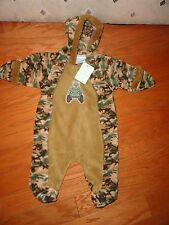 Baby Mon Petit Camouflage Print warm Jumpsuit w/Hoodie zip front. 3-6 Mo