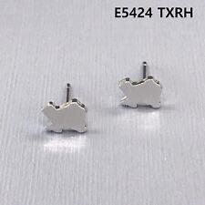 Silver Finished Mini State of Texas Shape Stud Post Earrings E5424 TXRH
