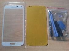 Vetro di Schermo Bianco per Samsung Galaxy S5 I9600 +Adesivo + Strumenti