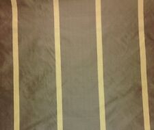 "MARCOVALDO ELENA STRIPE BROWN 100% SILK TAFFETA DRAPERY FABRIC BY THE YARD 54""W"
