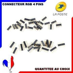 CONNECTEUR BROCHE RGB 4 PINS POUR RUBAN LED STRIP 5050/3528