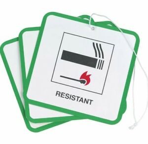 50 X  FIRE SAFETY LABELS SWING TAGSFOR FURNITURE / UPHOLSTERY / CHAIRS