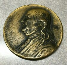 Saturday Evening Post 1928 200th Anniversary Metal Benjamin Franklin