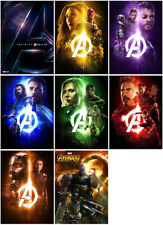 8 Avengers: Infinity War Movie 2018 Mirror Surface Postcard Promo Card Poster C1