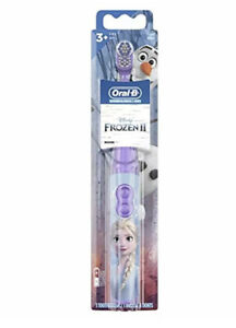 Kid's Oral B Disney Frozen 2 ELSA Electric Battery Operated Toothbrush- Purple