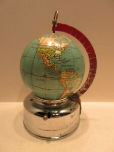 3 Inch Lighted World Globe Battery Operated Made in Japan Maker Pigeon