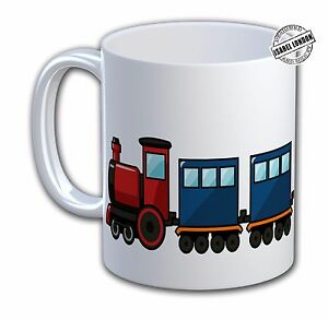 Personalised TRAIN MUG.Cup .Personalise with Name and Text - IL 7227