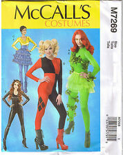 Cosplay Harley Quinn Poison Ivy Bodysuit Costume Sewing Pattern Size 4 6 8 10 12