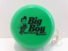Vintage Green Bob's Big Boy Elias Brothers Restaurant Yo-Yo Toy Plastic -New