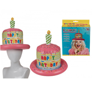 Novelty Inflatable Happy Birthday Cake Hat - Party Festival Funny Gift