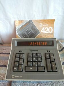 monroe 420 electric display calculator