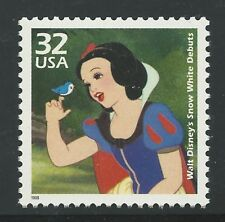 Walt Disney Snow White and the Seven Dwarfs Dopey 1937 Film Movie US Stamp MINT!