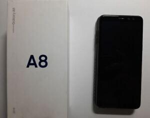 """Samsung Galaxy A8 2018 5,6"""" de 32GB - Set completo - Negro - Doble Sim - Usado"""