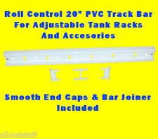 "Roll Control PVC 20"" Track Bar Scuba Tank Rack Adjustable Rod Cup cleat holder"