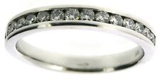 Ladies diamond rings 3/4 eternity 18Carat white gold anniversary size L 0.50ct