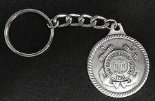 Pewter Us Coast Guard Key Chain / Keychain - Makes Wonderful Gift !
