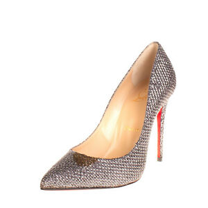 RRP€610 CHRISTIAN LOUBOUTIN Court Shoes Size 36 UK 3 US 6 Lame Made in Italy
