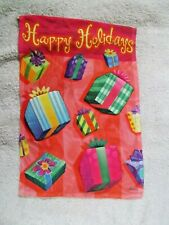 """Happy Holidays Packages Garden Flag 12""""x18"""""""