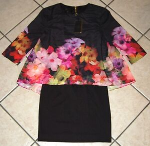 Ted Baker London Women's 'Cadie' Floral Print Popover Tunic Dress, Size 1