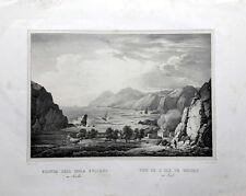 Vulcano - Sicilia -  Cuciniello e Bianchi - Litografia - 1830