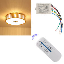 Wireless 4 Channel ON/OFF Lamp Remote Control Switch Receiver Transmitter New