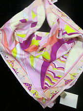 "NEW EMILIO PUCCI 100% SILK SCARF 34""x34"" MADE IN ITALY"