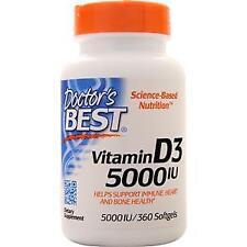 Doctor's Best Vitamin D3 (5000IU)  360 sgels