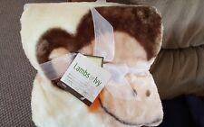 Lambs & Ivy Tickles Swinging Monkey Warm & Cozy Blanket