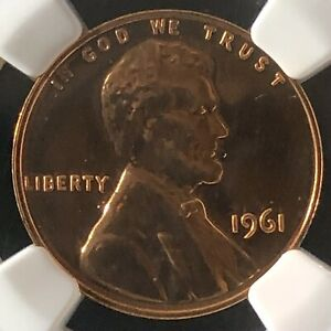 1961 1C RD PROOF Lincoln Memorial One Cent NGC PF66RD        3512464-098
