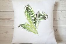 """Tropical Palm Leaves - 16"""" cushion cover French shabby vintage chic"""