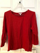 JOCKEY WOMEN'S RED SCOOP NECK TOP SIZE XL NWT