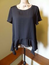 New Juicy Couture Women's Sheer Top, XS X-Small, Black