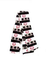 Scarf & Glove Set - Skelanimals - Black/White/Gray Skinny New skelww-001
