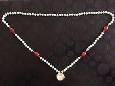 Gemas De Oriente QVC Jade Colgante Reloj con estaciones de Cornalina Tallada Rojo