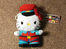 Street Fighter x Sanrio Clip-On Coin Purse - M. Bison / Hello Kitty Plush