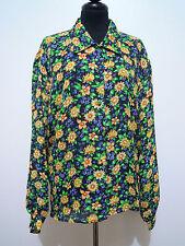 CULT VINTAGE 80 Camisa De Mujer Viscosa Rayón mujer camisa Sz. XL - 48