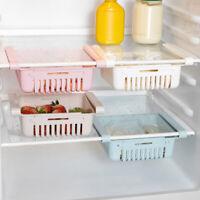 Fridge Storage Rack Kitchen Shelf Organiser Cupboard Holder Storage Basket Box