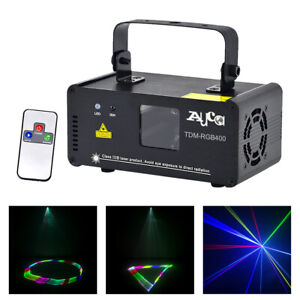 3D Effect Stage Light DMX RGB Remote DJ Home Party Show Beam Projector Lights