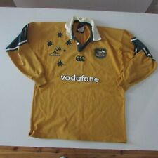 Rugby Union Jersey Australia Wallabies Size Large Yellow Men's